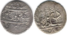 Ancient Coins - ITEM #34139, IRANIAN SILVER COIN, KARIM KHAN ZAND, ABBASI, TABRIZ (DATED 1188AH) TYPE C, KM #522, ALBUM 2800, SMALL FLAN
