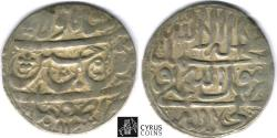 Ancient Coins - ITEM #32417, SAFAVID DYNASTY: SHAH SULTAN HUSSEIN or Husayn (AH 1105-1135) SILVER ABBASI, ISFAHAN MINT, AH1132 (AD1719), ALBUM #2683.1, KM 282 (type D),