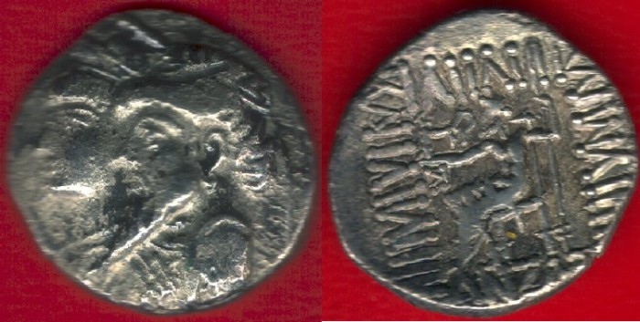 Ancient Coins - 5329, Ancient Persia, Elymais Dysnasty, Kamnaskires III & Queen Anzaze (circa 82/1-73/2 BC), AR drachm, VERY RARE with unpublished monogram (REV.) van't Haaff 7.1.2 var.