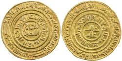 Ancient Coins - ITEM #1434 FATIMID : Al-Amir (AH 495-524/AD 1101-1130), AV gold DiNAR, MISR (CAIRO) MINT, DATE AH505 (AD 1111) , Album #729, Nicol 2524 type A