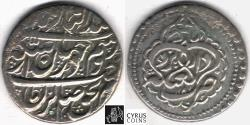Ancient Coins - ITEM #34157, IRANIAN SILVER COIN, KARIM KHAN ZAND, ABBASI, YAZD mint (DATED 1181AH) TYPE C, KM #522, ALBUM 2800, NICE AND FLAWLESS FLAN