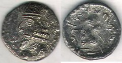 Ancient Coins - ITEM #47149 KINGS OF PERSIS, NAPAD CA. 2ND HALF OF FIRST CENTURY AD AR drachm, ALRAM 612, TYLER-SMITH NC (2004) #192,