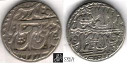 Ancient Coins - Item #34151, IRANIAN silver coin, Karim Khan Zand, Rupi (10-shahi), Mazandaran mint (NOT DATED) Type A, KM #512, Album #2793 type A (SCARCE)