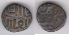 Ancient Coins - ITEM #3050 CHINGIZID (MEDIEVAL IRAN), CHINGIZ KHAN (AH 603-624), AE JITAL, Nimruz MINT, ALBUM #A-1973 (VERY RARE), TYE --, VF, RARE TYPE No Date!