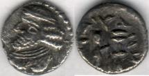 Ancient Coins - Item #47109 Kings of Persis, VAHSHIR (Oxathres) ca. 2nd half of first century BC, AR hemidrachm, Alram 580, Tyler-Smth CN (2004) #134