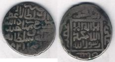 Ancient Coins - Item #3188 Timurid (Iran) Shahrukh (AH 807-850) AR tanka, Lahijan (Gilan province, Iran) mint, Dated 821AH (error for 831), Album #2405, RARE MINT!!