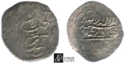 World Coins - ITEM #32359, SAFAVIDS (PERSIAN DYNASTY) SHAH ABBAS I, THE GREAT (AH 995-1038) SILVER 1/2 tanka, SARI MINT in Mazandaran, AH 1005?, ALBUM A2638 (local type) Zeno --- (RARE)