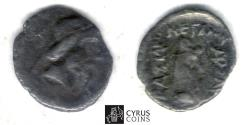 Ancient Coins - Item#19655, KINGS OF PARTHIA, MITHRIDATES I (CA 164-132 BC). AR silver obol, Ecbatana MINT, Sellwood 12.5, SHORE 31, SUNRISE --, RARE (hard to find)