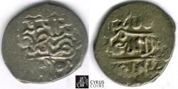 World Coins - Item #32349 Safavid (Persian Dynasty) Tahmasp I (AH 930-984) silver bisti (20 dinars), Qazvin mint, AH 963 (AD 1555), Farahbakhsh 17, Album C2605 Zeno --- Rare fully dated ,