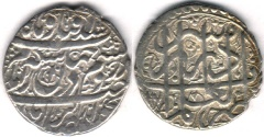 Ancient Coins - ITEM #34137, IRANIAN SILVER COIN, KARIM KHAN ZAND, ABBASI, SHIRAZ MINT, DATED AH1177 (AD1764), TYPE B, KM #515, ALBUM 2799