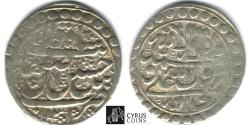 Ancient Coins - ITEM #32416, SAFAVID DYNASTY: SHAH SULTAN HUSSEIN or Husayn (AH 1105-1135) SILVER ABBASI, ISFAHAN MINT, AH1131 (AD1718), ALBUM #2683.1, KM 282 (type D),
