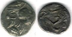 Ancient Coins - Item #47101 Kings of Persis, Pakor II ca. 1st half of first century AD AR obol, Alram 598, Tyler-Smith NC (2004) #181, Triskeles on reverse!!