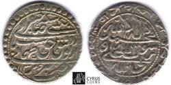 World Coins - Item #32385 Safavid (Persian Dynasty) Tahmasp II (AH 1135-1145) Silver abbasi, minted in Tabriz dated in AH 1136 (AD 1723), Album 2689.1, KM #303, ZENO 212041, first year of reign!