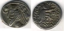 Ancient Coins - Item #19603, Parthian Kings: Arsaces XXIII: Phraataces (2BC- AD 6), AR drachm, Sellwood #56.6, Mithradatkart mint, good VF, SCARCE (Time of Christ birth)