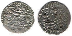 Ancient Coins - Item #3466, Persian silver coin, Karim Khan Zand, Abbasi, Qazvin (1170AH) Type E, KM #532. Album 2802, Very Rare