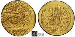 Ancient Coins - Item #35421 Muhammad Hasan Khan Qajar (AH 1163-1172/AD 1750-1759) AV gold 1/4 mohur, Tabriz (very rare) mint dated AH 1171, Album 2826, KM #505, EXTREMELY RARE (RRR) PCGS AU58