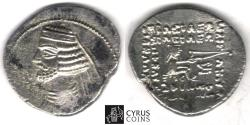 Ancient Coins - ITEM #19661, KINGS OF PARTHIA, Orodes II 57-38 BC., silver AR drachm MINT: COURT OF MITHRADATKART, SELLWOOD 45.15, VERY RARE MINT.,