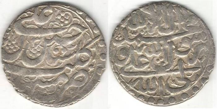 World Coins - Item #32156 Safavid (Iranian Dynasty) Shah Sultan Hussein (AH 1105-1135) silver Abbasi, Mashhad mint (scarce), AH1130 (AD1719), Album #2686, KM #291a (type E)