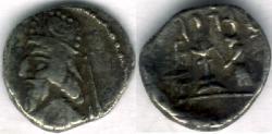 Ancient Coins - Item #4784, Kings of Persis, Darev II (Darius II) 100-1 BC AR obol, Alram 566, crescent on the crown, Tyler-Smith NC (2004) 36