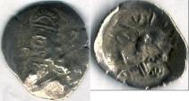 Ancient Coins - Item #47118 Kings of Persis, Napad ca. 2nd half of first century AD AR obol, Alram 617 var., Tyler-Smith NC (2004) N/A, two sided images of kings, very rare example!!