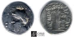 Ancient Coins - Item#19659, KINGS OF PARTHIA, MITHRIDATES I (CA 164-132 BC). AR silver obol, NISA MINT?, Sellwood 11.5 var., SHORE --, SUNRISE --, VERY RARE
