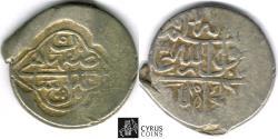 Ancient Coins - ITEM #32450 SAFAVID DYNASTY: MUHAMMAD KHUDABANDAH (AH 985-995) SILVER 2-SHAHI (muhammadi), ISFAHAN MINT, AH (99)2, ALBUM #2624 WITH COUNTERMARK ON ruler's own coin SHARP VF/XF