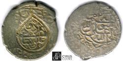 Ancient Coins - ITEM #32443 SAFAVID DYNASTY: MUHAMMAD KHUDABANDAH (AH 985-995) SILVER 2-SHAHI (muhammadi), URDU MINT, NO DATE, ALBUM #2624 WITH COUNTERMARK ON TYPE A 2618 FROM THE SAME RULER