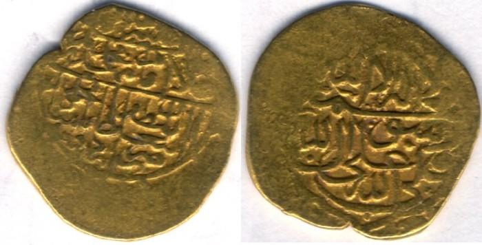 Ancient Coins -   Item #32203 Safavid (Iranian Dynasty) Muhammad Khudabandah (AH 985-995) GOLD AV mithqal, Urdu mint (RARE), No Date, Album #2616.1 SCARCE