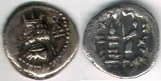 Ancient Coins - ITEM #47137 KINGS OF PERSIS, ARTAXERXES II (ARDASHIR) CA. 2ND HALF OF FIRST CENTURY BC AR hemidrachm, ALRAM 571, TYLER-SMITH 62, Sear GC 6214