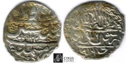 Ancient Coins - ITEM #32407, SAFAVID DYNASTY: SHAH SULTAN HUSSEIN or Husayn (AH 1105-1135) SILVER ABBASI Mashhad MINT, AH1134 (AD1721), ALBUM #2683.2, KM 282 (type D) full STRIKE, bit of wavy flan