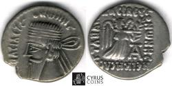 Ancient Coins - Item #19678, KINGS of PARTHIA. Vonones. 8-12 AD. AR Drachm. Ecbatana mint. Sellwood 60.5, Shore 329, Sunrise 407