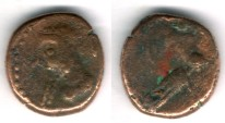 Ancient Coins - Item #5355, Ancient Persia, Elymais Dysnasty, PRINCE Α (Circa late 2nd- early 3rd centuries AD), AE drachm, (De Morgan types 58/9), van't Haaff 19.1-1-1B