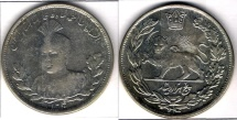 Ancient Coins - ITEM #35407 QAJAR (PERSIAN DYNASTY) AHMAD SHAH (AH 1327-1344) LARGEST SILVER 5000 DINARS, TEHRAN, 1340 AH (1921) PORTRAIT TYPE!!! SCARCE SIZE KM # 1058, EXTRA FINE/AU