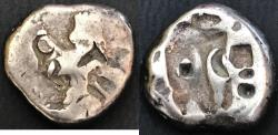 Ancient Coins - ITEM #1140, ANCIENT PERSIAN EMPIRE ACHAEMENID KINGS, (Lydia) SILVER SIGLOS, Lydia under Persian Rule circa. 450-330 BC, with spear and bow type