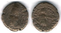 Ancient Coins - Item #5342, Ancient Persia, Elymais Dysnasty, Phraates (Early mid 2nd century AD), AE drachm, (De Morgan Type 33), van't Haaff 14.1-2