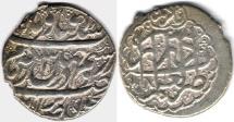 Ancient Coins - ITEM #34144, IRANIAN SILVER COIN, KARIM KHAN ZAND, ABBASI, SHIRAZ (DATED 1181AH) TYPE C, KM #522, ALBUM 2800, NICE STRIKE AND FLAWLESS FLAN