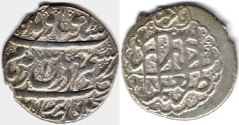 Ancient Coins - ITEM #34144, IRANIAN SILVER COIN, KARIM KHAN ZAND, ABBASI, SHIRAZ (DATED 1181AH) TYPE C, KM #522, ALBUM 2800, NICE STRIKE AND FLAWLESS FLAN