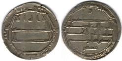 Ancient Coins - Item #13108 Abbasid Empire (Medieval Islam), temp. Harun al-Rashid (AH 170-193), Silver dirham, 185AH, al-Muhammadiya (Reyy near Tehran, Iran) mint, Album #219.9