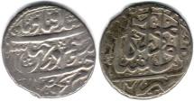 Ancient Coins - ITEM #34136, IRANIAN SILVER COIN, KARIM KHAN ZAND, ABBASI, KASHAN (DATED 1176AH) TYPE C, KM #522, ALBUM 2800,