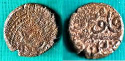 World Coins - ITEM #4568, PERSIAN CIVIC COPPER COIN, Afsharid period AE FALUS, no CLEAR DATE, MINTED IN YAZD, LION WALKING RIGHT, ALBUM 3272