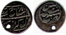 Ancient Coins - Item #33161, IRAN, Nadir's grandson, Shahrukh Afshar SECOND REIGN (AH1163-1168) , AR shahi NO DATE,  Mashhad mint, Album 2781 type D, very rare