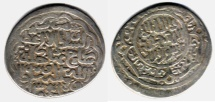 Ancient Coins - ITEM #31122 TIMURID (IRAN) SHAHRUKH (AH 807-850) AR TANKA, Saveh (ساوه) MINT, DATED 830AH (AD1428), ALBUM #2405, RARE MINT!! very unusual pleasing reverse style