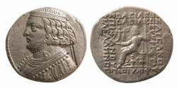 Ancient Coins - ITEM #19637, KINGS OF PARTHIA, Orodes II 57-38 BC., silver TETRADRACHM MINTED IN SELEUCIA, SELLWOOD 48.1var., very popular/impressive coin, PRICED TO SELL