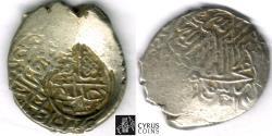 Ancient Coins - ITEM #32457 SAFAVID DYNASTY: MUHAMMAD KHUDABANDAH (AH 985-995) SILVER 2-SHAHI (muhammadi), NO MINT, AH 992, ALBUM #2624 WITH COUNTERMARK ON ruler's own coin Album 2620
