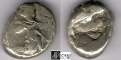 Ancient Coins - ITEM #1178, ANCIENT PERSIAN EMPIRE ACHAEMENID KINGS, SILVER SIGLOS AR, TEMP. ARTAXERXES II-ARTAXERXES III. CIRCA 375-340 BC., WITH SPEAR AND BOW TYPE