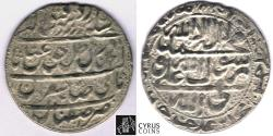 World Coins - ITEM #32380 SAFAVID (Persian DYNASTY) ABBAS III (AH 1145-1148) SILVER ABBASI, Isfahan MINT, AH 1147 (AD 1734), ALBUM #2694, KM #346 (SCARCE) LAST KING OF SAFAVID