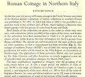 Ancient Coins - Item 3960, Original Off-prints Roman Coinage in Northern Italy mint by Richard Reece Published in The Numismatic Chronicle Vol. XI (1971) (in ENGLISH) 13 pages