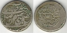 Ancient Coins - Item #3457, IRANIAN silver coin, Karim Khan Zand, Rupi (10-shahi), AstarAbad mint (1172AH) Type A, KM #512Reign RARE,