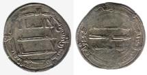 Ancient Coins - ITEM #13144 ABBASID EMPIRE (MEDIEVAL ISLAM), TEMP. AL-MANSUR (AH 136-158), SILVER DIRHAM, 148AH, AL-MUHAMMADIYA mint (previously known as al-RAYY NEAR TEHRAN, IRAN), ALBUM #213.2