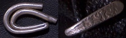 Ancient Coins - ITEM # 32325, SAFAVID Period, most likely Tahmasp I, Silver Larin Folded (hairpin shape), VF, Album 2705X,  Ceylonese style